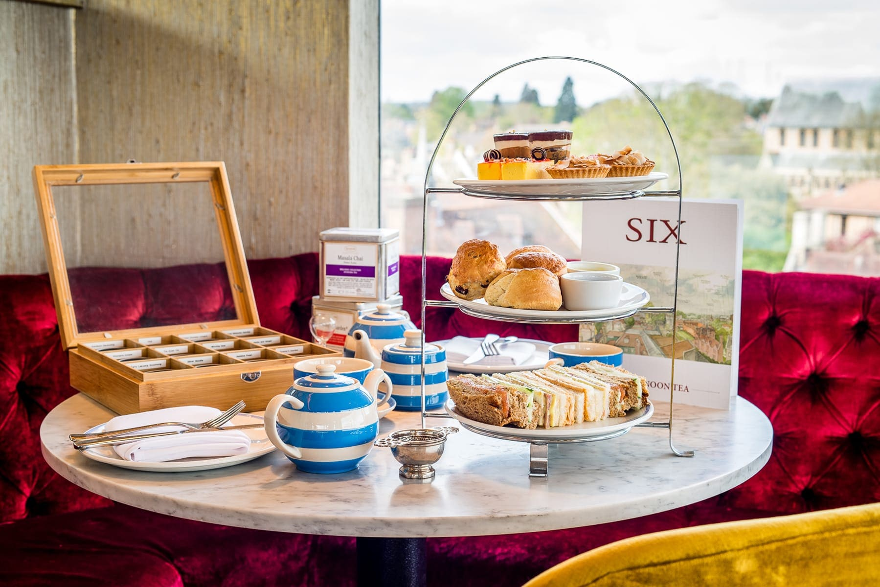 Afternoon tea, scones and sandwiches at SIX